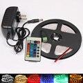 Tira LLEVADA RGB los 5 M 300Led 3528 SMD Mando A Distancia IR 24key 12 V 2A Adaptador de Corriente Flexible Cinta de Luz Led Lámparas de Decoración Del Hogar