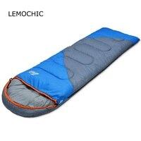 LEMOCHIC High Quality Splicing Double Sleeping Bag Ultralight Camping Naturehike Equipment Cotton Winter Portable Sleepingbag