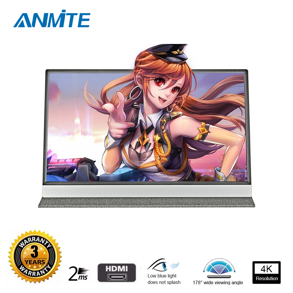 Nowy 15.6 cal 4 K komputera przenośnego monitora PC TYPE-C HDMI PS4 Xbo x360 1080 P IPS FHD dotykowy LED wyświetlacz monitora dla Raspberry Pi