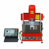 CNC router 2020 jewelry engraving machine 4 axis 800W spindle mach3 software for wax seal with off line working function
