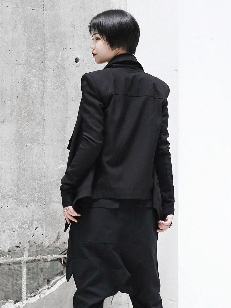 MANS à longues manches noir mince pull entièrement neuf sans étiquette col rond
