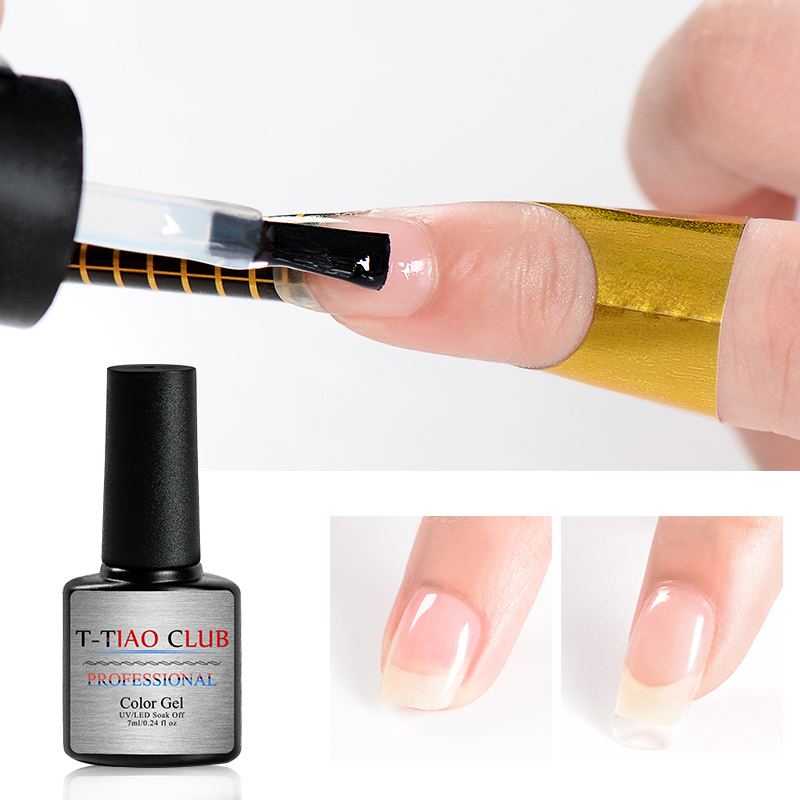 T-TIAO CLUB 7ml Quick Poly Extention Gel Clear Pink Nude Nail Tips Soak off UV Builder Acrylic Art Lacquer