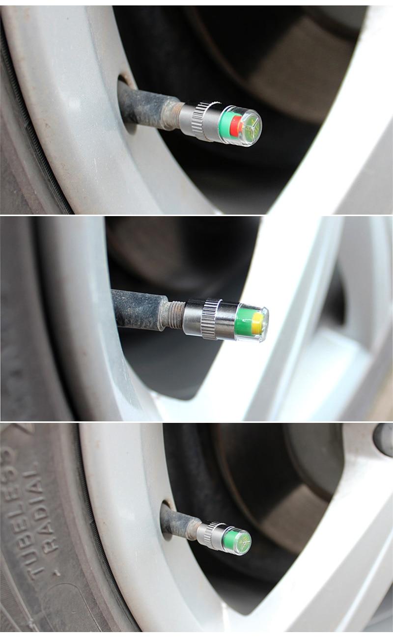 4pcs/lot  Valve Stem Cap Sensor Indicator Hot  2.4bar 36PSI  3 Color Alert  New Car Accessories Car Tyre Tire Pressure Monitor 10