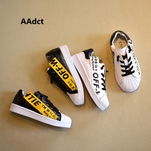 AAdct 2017 Fashion Genuine leather children shoes Autumn new running sports boys shoes All-match girls shoes sneakers Brand