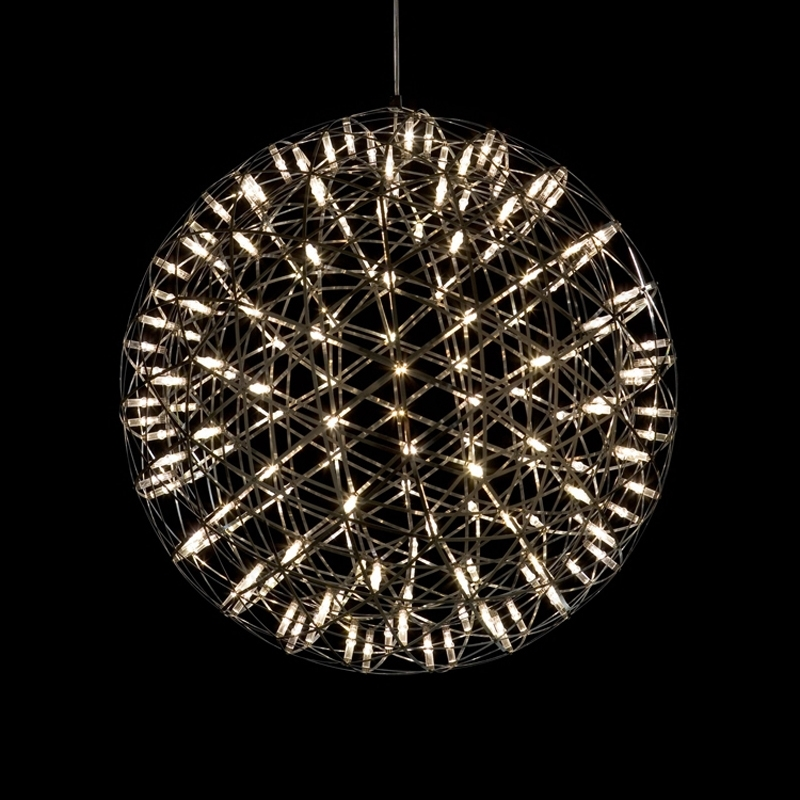 Image 3 - GZMJ Brief Spark Globe LED Pendant Lights Art Deco Firework Ball Stainless Steel Hanging Lamp Loft Light Fixtures for Home Decor-in Pendant Lights from Lights & Lighting