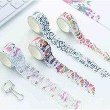 80PCS/One Roll Japanese Cute Washi Tape DIY Decoration Masking Tape Scrapbooking Tape Adhesive Tape Label Sticker Stationery