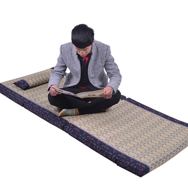 Anese Tatami Mat Cushion Rectangle 200x80cm Rug Carpet Judo Bedroom Folding Straw Floor For Sleeping