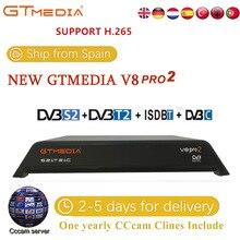 GTmedia V8 Pro 2 рецепторов DVB-S2 DVB-C DVB-T2 Встроенный Wi-Fi H.265 Поддержка IPTV PowerVu DRE и Biss ключ спутниковый ТВ ресивер 1080 P