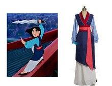 Hua mulan cosplay dress mulan princess dress 성인 여성을위한 고품질 mulan 공주 의상 blue mulan cosplay