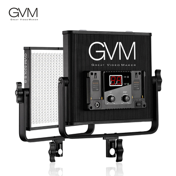 GVM GVM-520LS-B LED Video Panel Light Aluminum Alloy Housing with U-Bracket for Photography Interview Studio Lighting 30W