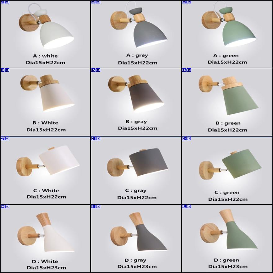 BOKT Modern Style E27 LED Wall Lamps Nordic Macaron Lights For Passage Corridor Bedroom Bedside Lamp Sconces AC90-260V