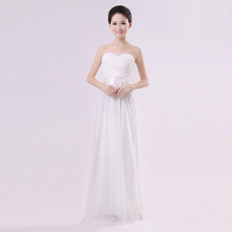 White Bridesmaids Dresses Vestidos De Festa Longo Chiffon Long ...