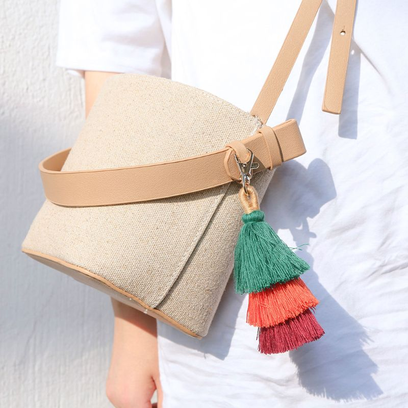 15cm Colorful Bohemian Tassel Bag Charm Car Keychain Handbag Shoulder Bags Pendant Gift