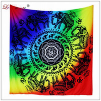 LeRadoreBeach Towel Tapestry Trippy Wall Hangings Cotton Home Decor Throw Picnic Mat indian mandala tapestry hippie wall Hanging