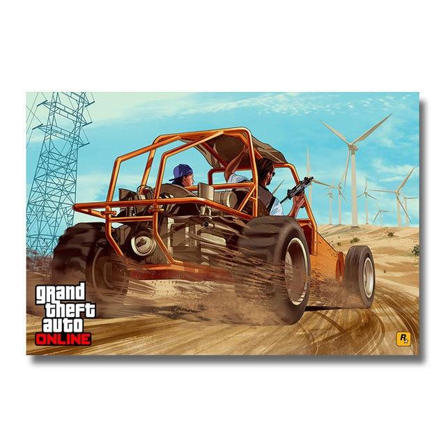 Плакат гобелен Grand Theft Auto Шелковый GTA V