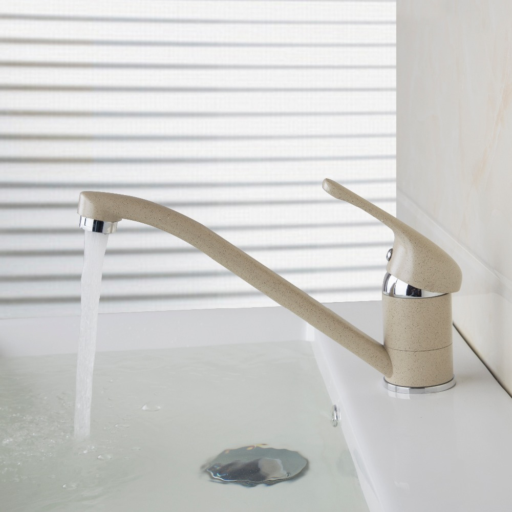 Torayvino Bathroom Basin Faucet Painting Long Spout Deck Mounted Single Handle Hole Hot Cold Water Eminent Basin Faucet torayvino style kitchen faucet chrome polished deck mounted single handle hot cold water beautiful eminent kitchen faucet