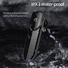 Kebidu ספורט Bluetooth אוזניות אלחוטי אוזניות מיני אוזניות דיבורית Bluetooth אפרכסת עם מיקרופון עבור iphone xiaomi טלפונים