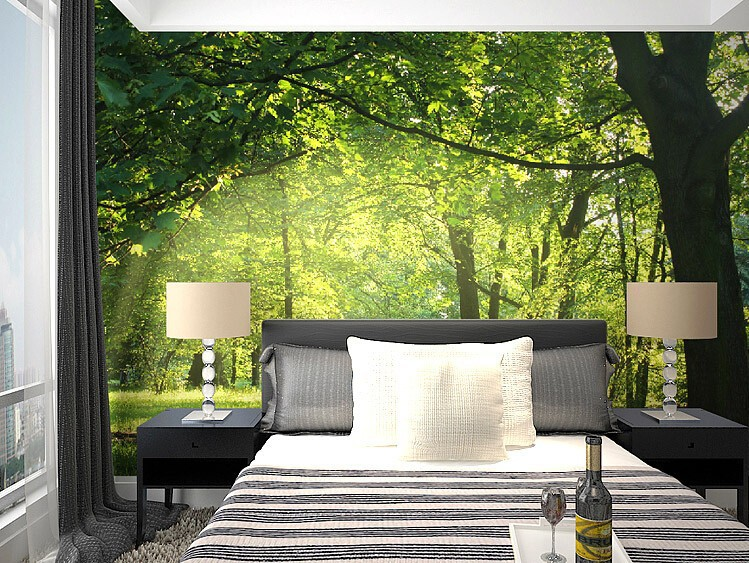 Beibehang Wallpaper Idyllic Natural Scenery And Flowers Living Room Bedroom  Background Wallpaper 3D Stereo Wall Mural Wall Paper In Wallpapers From  Home ...