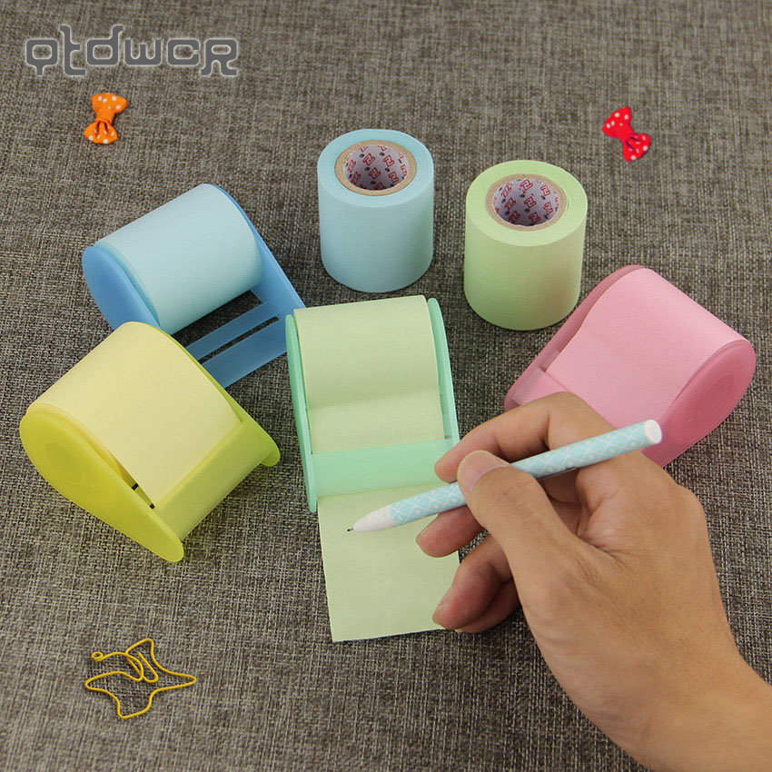 1PC Sticky Notes Set Fluorescent Paper Post It Memo Pad Stickers Material Escolar Stationery Office School Supplies