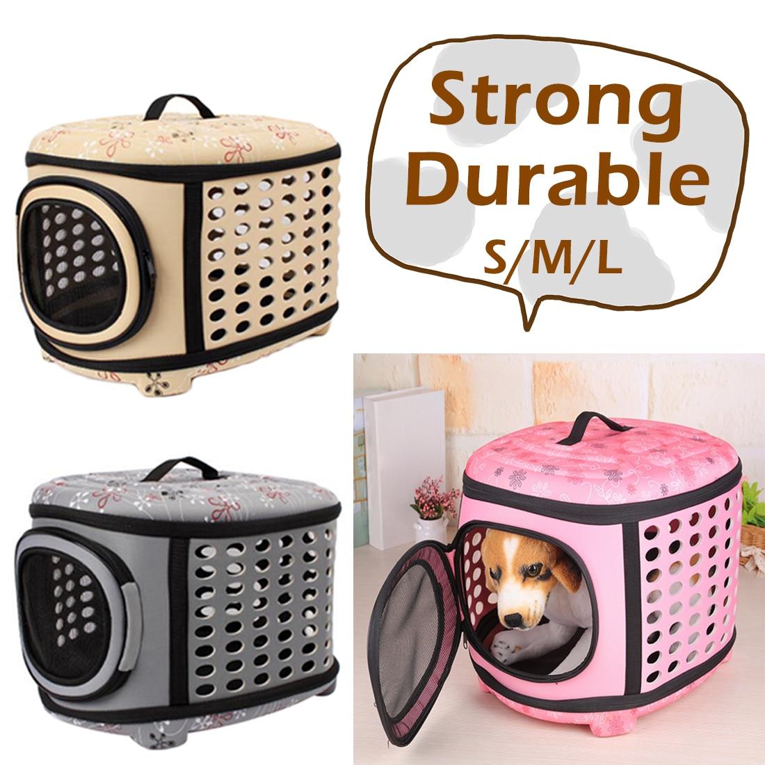 129b52abd1dc Soft EVA Pet Carrier Puppy Dog Cat Foldable Outdoor Travel Shoulder Bag for  Small Dog Pets Portable Dog Kennel