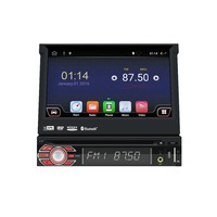Solo 1 Din 7 Android 9.0 GPS Flip Auto Stereo Radio Player Touch Screen USB SD 2 GRAM 4 GWIFI BT SWC RDS DVR DAB DVBT MirrorLin
