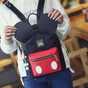 Image 5 - Disney Mickey mouse lady cartoon Backpack women Backpack 2019 New Cute girl student bag for school
