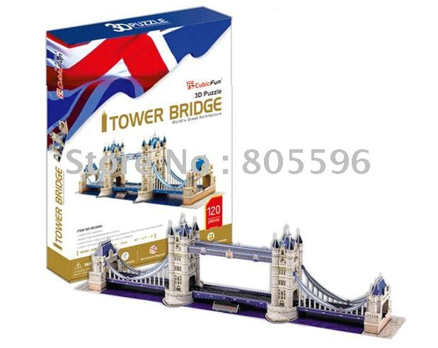 Educational Building toy,3D DIY Models,Home Adornment, Puzzle Toy,Paper model,Papercraft,THE TOWER BRIDGE series s 3d puzzle paper diy papercraft double decker bus eiffel tower titanic tower bridge empire state building