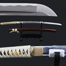 Full Handmade Knife Full Tang Japanese Samurai Sword Very Sharp High Carbon Steel Blade Katana Burgundy Saya
