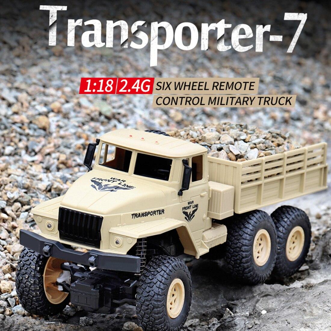 1:18 2,4G 10км/ч RC военный грузовик RC шесть колесо грузового автомобиля дистанционного Управление игрушка для детей Dongfeng № 8 желтого цвета