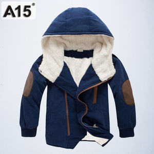 Image 5 - ילדי מעילי חורף ומעילי סתיו Jacket עבור בנים עם ברדס חם מעיילים קטיפה כותנה מעילים בגדי ילדים גיל 4 6 8 10 12 שנה