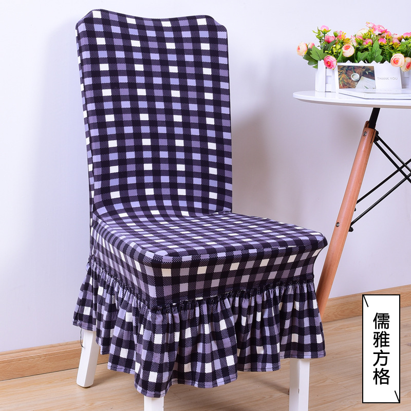 tartan dining chair covers for sale office exercises abs top pastoral style cover printed cotton stoelen hoes home seat in from garden on aliexpress com alibaba