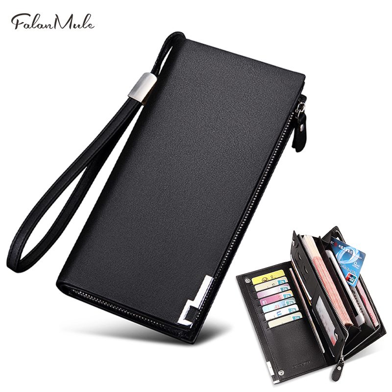 Purse Men's Genuine Leather Men's Wallet Clutches Brand Men Long Wallets Zipper Coin Purse Wallets Card Holder for male gift sammons brand new design fashion genuine cow real leather men long zipper clutches cards phone holder wallet