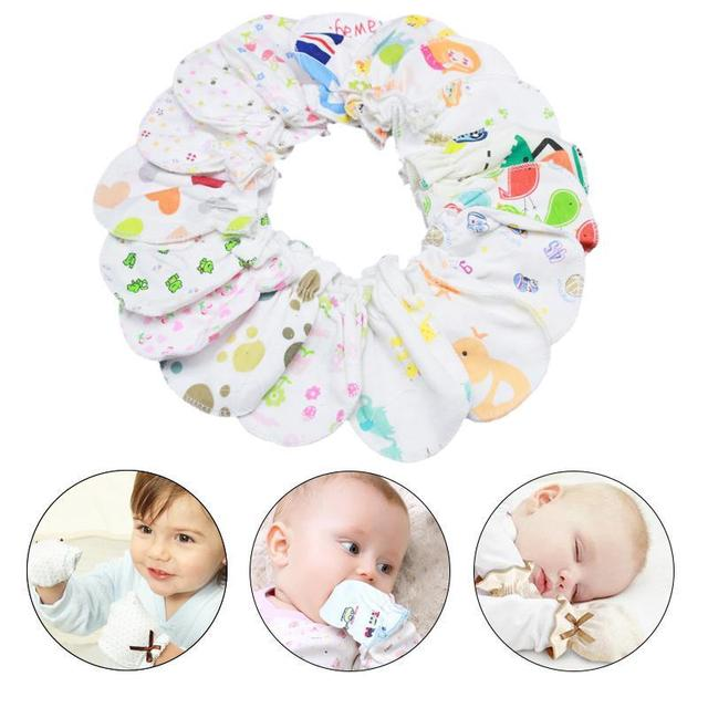 778404334 1 Pair New Cute Baby Soft Cotton Newborn Infant Anti Scratch ...