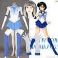 Athemis anime sailor moon mizuno ami/sailor mercury cosplay custom made dress alta qualidade