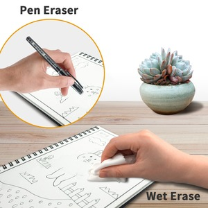 Image 4 - NeWYeS Cuaderno A6 reutilizable con bolígrafo de tinta, libreta borrable inteligente, para diario, con ondas de microondas, borrado en la nube, cuaderno de bolsillo forrado