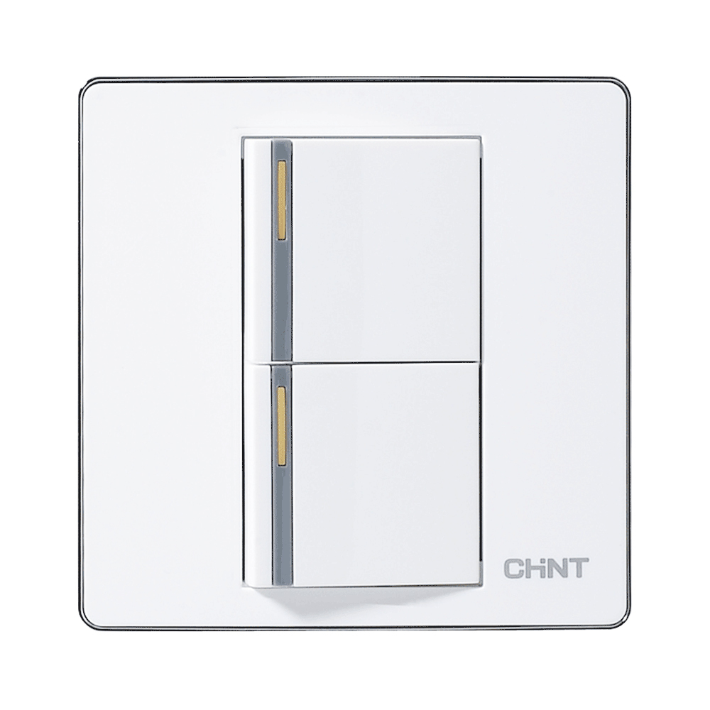 Chint Wall Switches 120 Type Electrical Light Switches New9e 86 Type Panel Two Gang Two Way