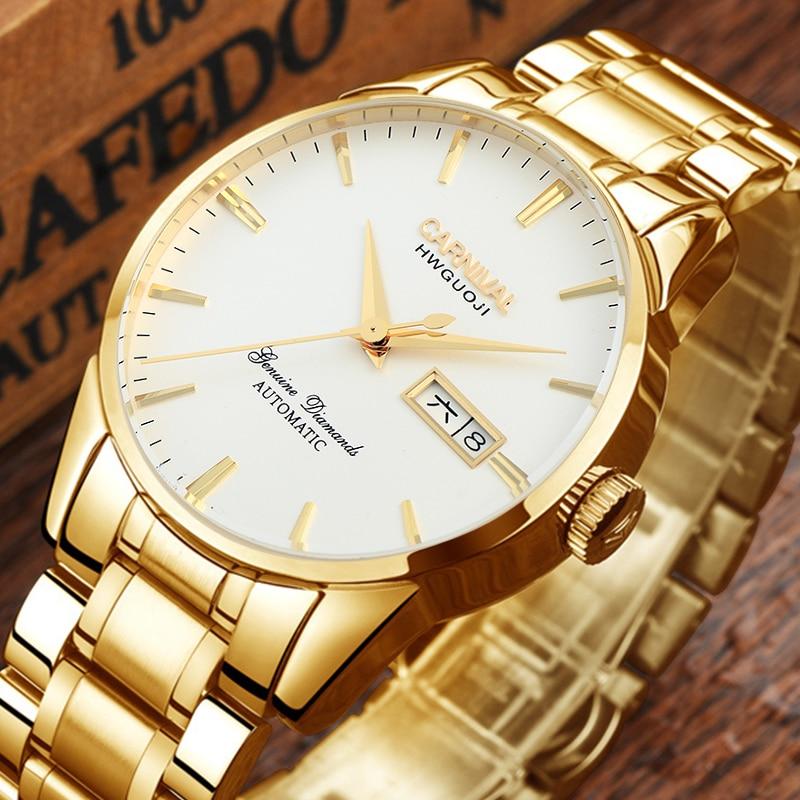 Switzerland Carnival Top Brand Luxury Men Watches Automatic Self-Wind Watch Men Sapphire reloj hombre relogio clock C8646G-11