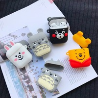 3D Cartoon Silicone Case For AirPods Cover Case Wireless Bluetooth Earphone Protective Cover For Apple Airpods Case Cute Soft