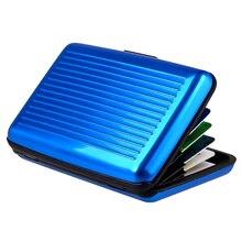 Cardholder qoong rfid shiny id credit aluminum business metal box travel