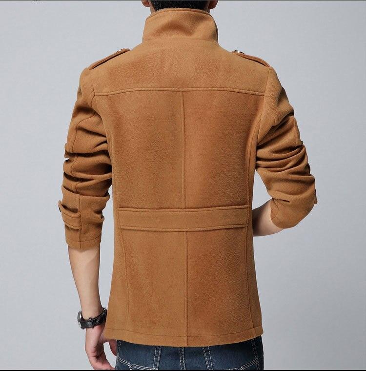 Taille orange Laine Hommes Long Noir bleu Manteau Slim M 2016 Agneau De Coréens D'hiver Bp8HxA