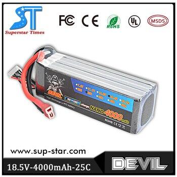 100% Origin Devil 18.5v 4000mAh 25c Lithium Battery RC Car Quadcopter Battery Wholesale