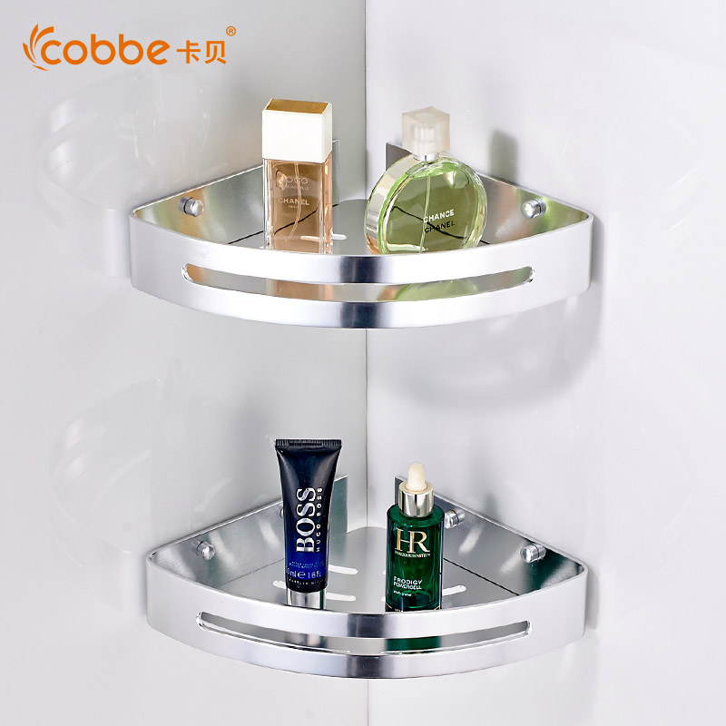 Modern Double Layer Shower Corner Caddy Mirror Wall Mounted Bathroom ...
