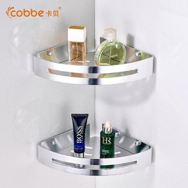 moderne double couche coin douche caddy miroir mural salle de bains accessoires pour serviette rack porte - Miroir Mural Salle De Bain