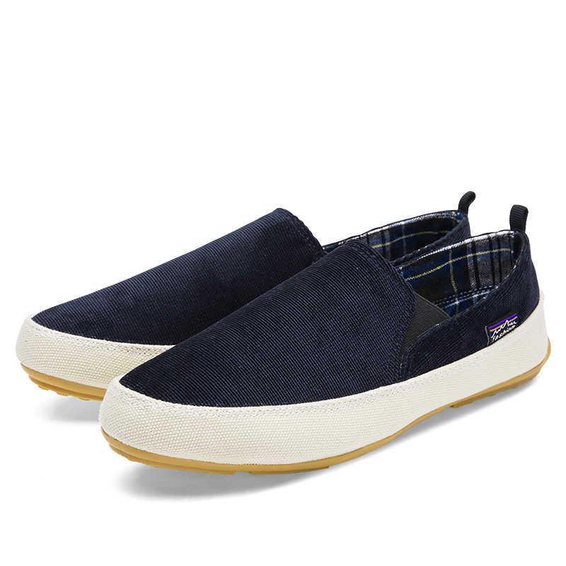 Erkek ayakkabısı 2019 Moda Marka Erkek kanvas ayakkabılar Rahat Rahat Klasik Nefes Kayma Sonbahar Erkekler Flats Büyük Boy 45