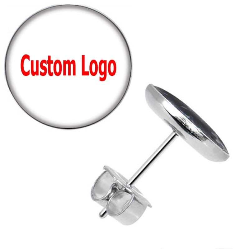 Wholesale Custom Stud Earrings Ear Studs Picture Logo Earring Cheaters 10*0.7mm ZCST-225