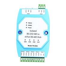 YN 5204 изолированный 4 портовый ретранслятор RS485 вместо UT5204 изолированный RS323/485 до 4 Портовый RS 485 Hub YN5204