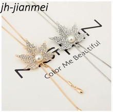 цена на Maple Ladies Sweater  Necklace Fashion Tears Angel Drop Crystal Charm Collarbone Necklace