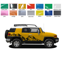 car stickers side body stripe mountains styling rear trunk graphic vinyl accessories custom for toyota fj cruiser 2006-2018