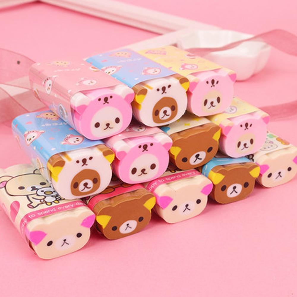 1PC Cute Rilakkuma Eraser Rubber Erasers Correction School Office Supply Student Stationery