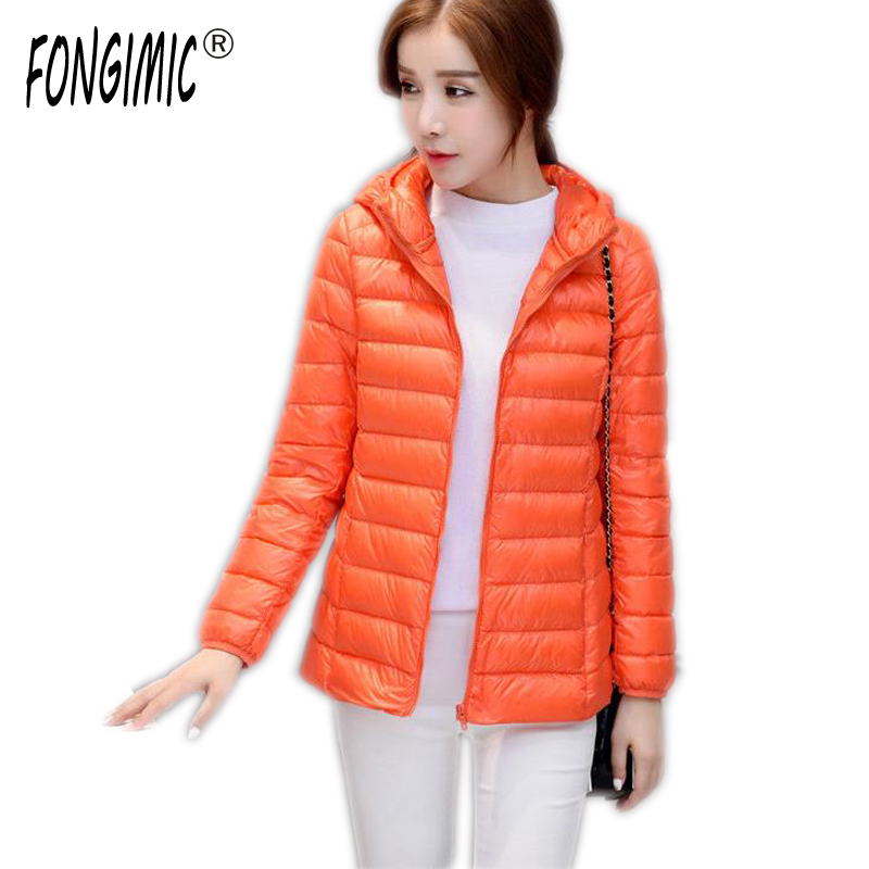 FONGIMIC Women Coat Autumn Winter Down Jacket Women White Duck Down Parkas Casual Style Jackets Zipper Light Thin Short Parka autumn new cartoon elephant printed long sleeve children sweater boy girl pullover top shirts sweatshirt clothing